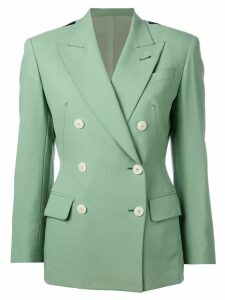 Jean Paul Gaultier Pre-Owned double breasted blazer - Green
