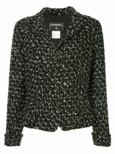 Chanel Pre-Owned tweed fitted blazer - Black