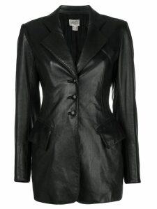 Hermès Pre-Owned fitted longsleeved jacket - Black