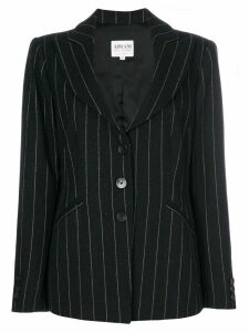 Giorgio Armani Pre-Owned pinstriped blazer - Black