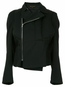 Comme Des Garçons Pre-Owned zipped fitted jacket - Black