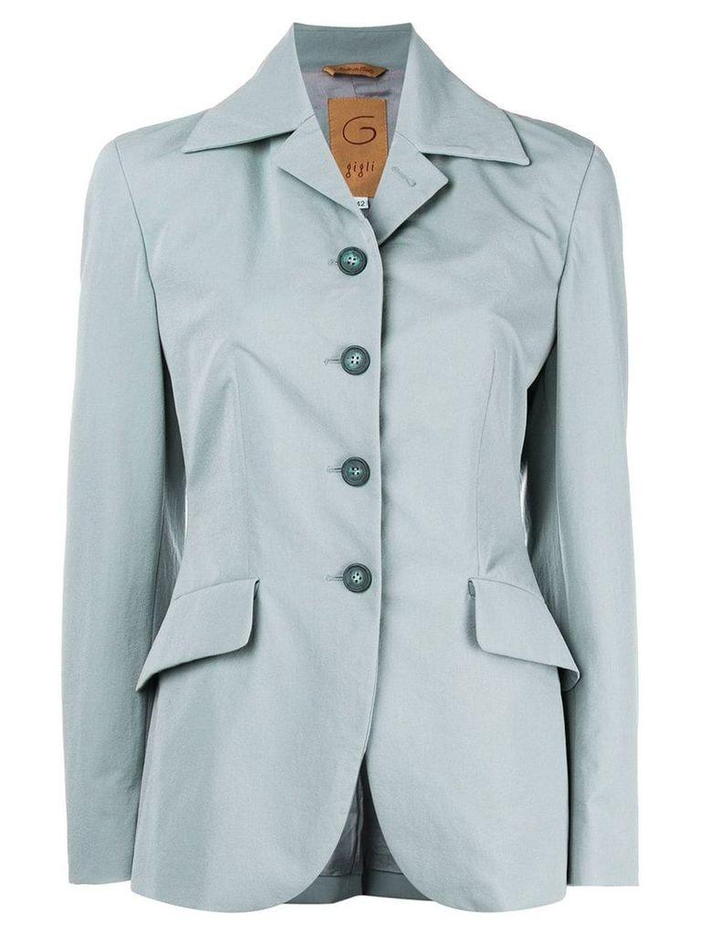 Romeo Gigli Vintage belted slim-fit blazer - Blue