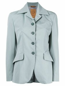Romeo Gigli Pre-Owned belted slim-fit blazer - Blue
