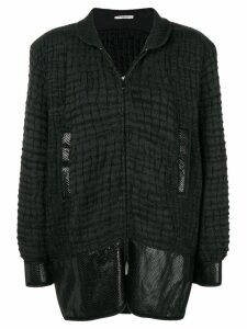 Yves Saint Laurent Pre-Owned boxy textured jacket - Grey