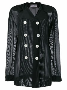 Dolce & Gabbana Pre-Owned sheer double-breasted jacket - Black