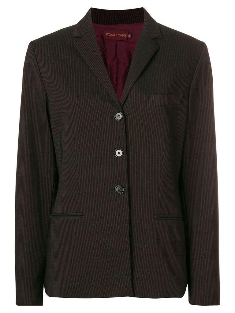 Romeo Gigli Vintage pinstriped blazer - Black