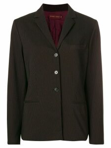 Romeo Gigli Pre-Owned pinstriped blazer - Black