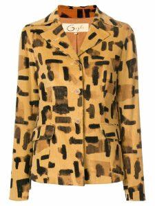 Romeo Gigli Pre-Owned brush stroke print jacket - Neutrals