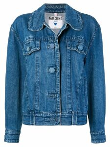 Moschino Pre-Owned round-collar denim jacket - Blue