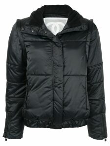 Chanel Pre-Owned high collar padded jacket - Black
