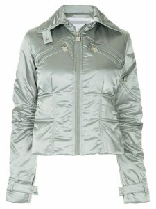 Chanel Pre-Owned metallic padded jacket