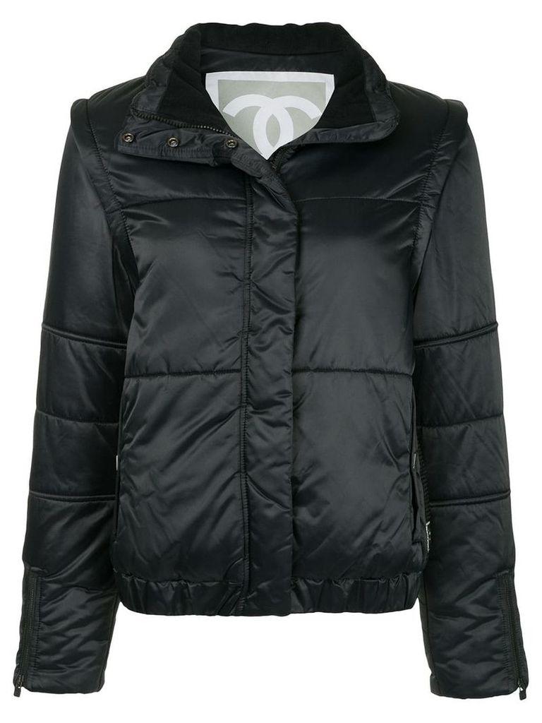 Chanel Vintage high collar padded jacket - Black