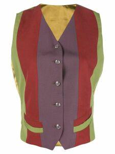 JEAN PAUL GAULTIER PRE-OWNED colour block waistcoat - Green