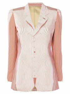 Jean Paul Gaultier Pre-Owned Body trompe L'oiel jacket - White