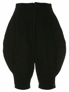 Yohji Yamamoto Pre-Owned cropped knee-length trousers - Black