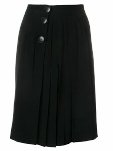 Yves Saint Laurent Pre-Owned pleated short skirt - Black