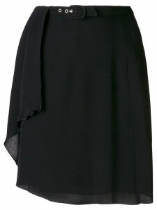 Giorgio Armani Pre-Owned creased belted short skirt - Black