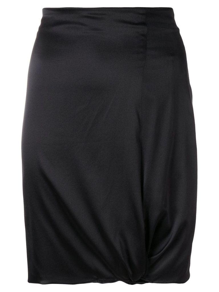 Giorgio Armani Vintage gathered detail fitted skirt - Black