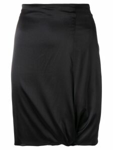 GIORGIO ARMANI PRE-OWNED gathered detail fitted skirt - Black