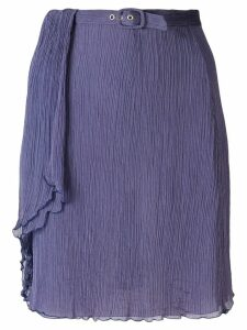 Giorgio Armani Pre-Owned creased belted skirt - Purple
