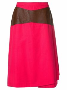 Gianfranco Ferre Pre-Owned contrast detail skirt - Pink