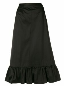 Yves Saint Laurent Pre-Owned ruched hem skirt - Black