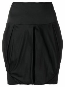 Giorgio Armani Pre-Owned ruched mini skirt - Black