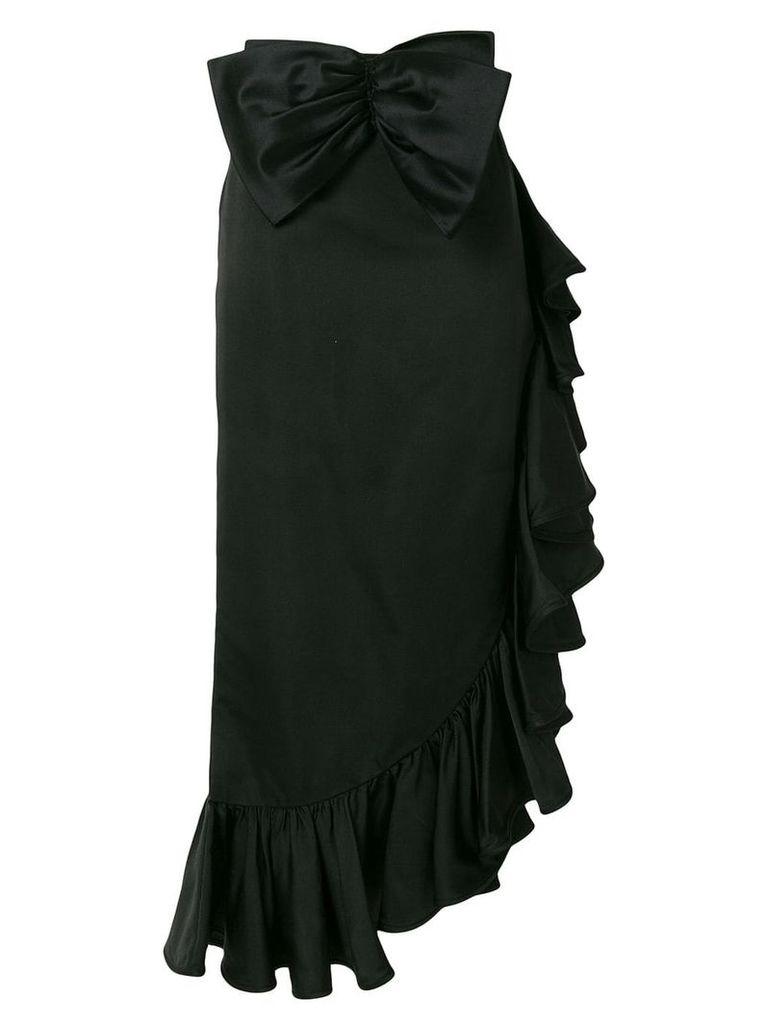Valentino Vintage ruffle trim skirt - Black