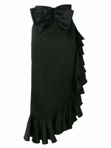 Valentino Pre-Owned ruffle trim skirt - Black