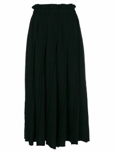 COMME DES GARÇONS PRE-OWNED straight pleated skirt - Black