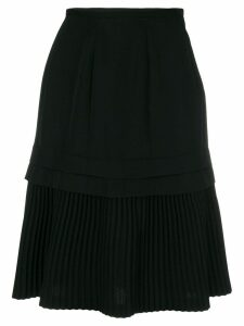 COMME DES GARÇONS PRE-OWNED layered pleated skirt - Black