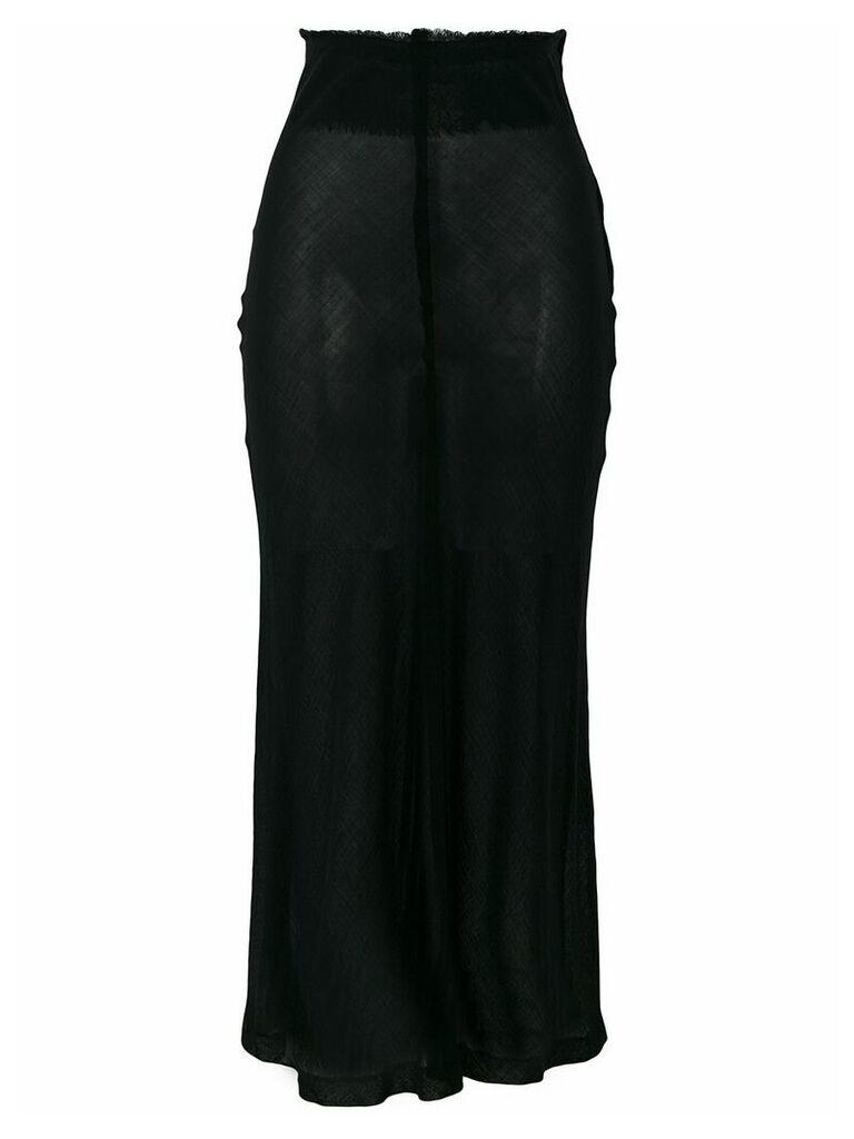 Comme Des Garçons Pre-Owned high-waisted sheer skirt - Black