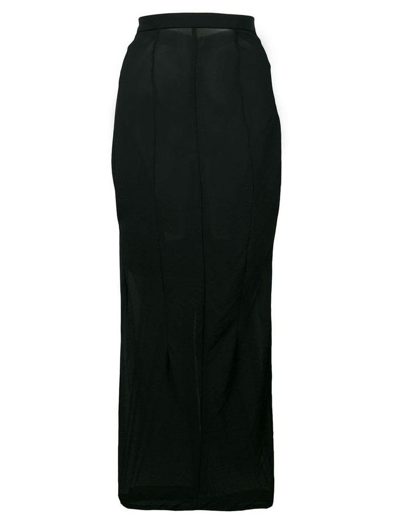 Comme Des Garçons Vintage 1992 sheer fitted skirt - Black