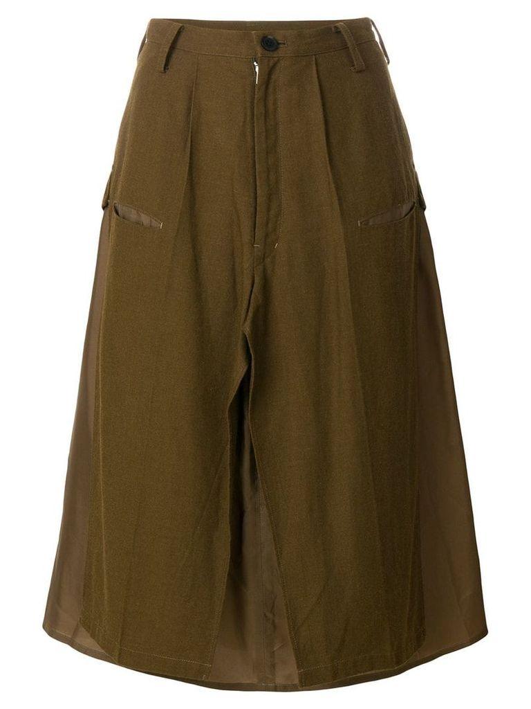 Yohji Yamamoto Vintage deconstructed military skirt - Brown