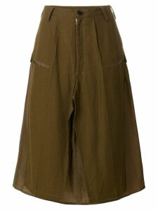 Yohji Yamamoto Pre-Owned deconstructed military skirt - Brown