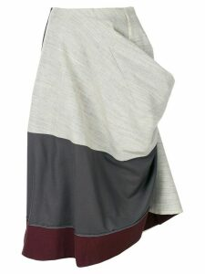 Comme Des Garçons Pre-Owned 1998 deconstructed draped skirt - Grey