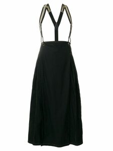 Jean Paul Gaultier Pre-Owned suspenders pleated skirt - Black