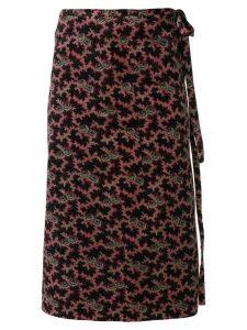 Comme Des Garçons Pre-Owned floral velvet wrap skirt - Multicolour