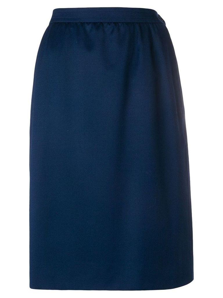 Yves Saint Laurent Vintage gathered high-waisted skirt - Blue