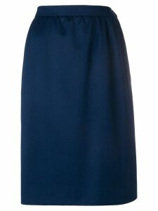 Yves Saint Laurent Pre-Owned gathered high-waisted skirt - Blue