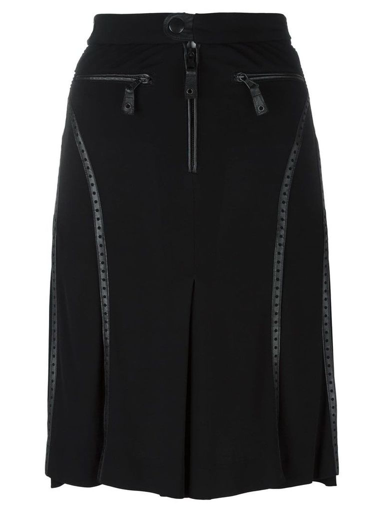 Jean Paul Gaultier Vintage perforated leather effect trim skirt -