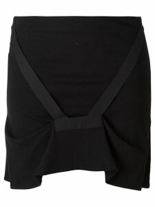 Helmut Lang Pre-Owned bondage strap skirt - Black