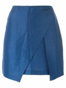 Romeo Gigli Pre-Owned wrap mini skirt - Blue