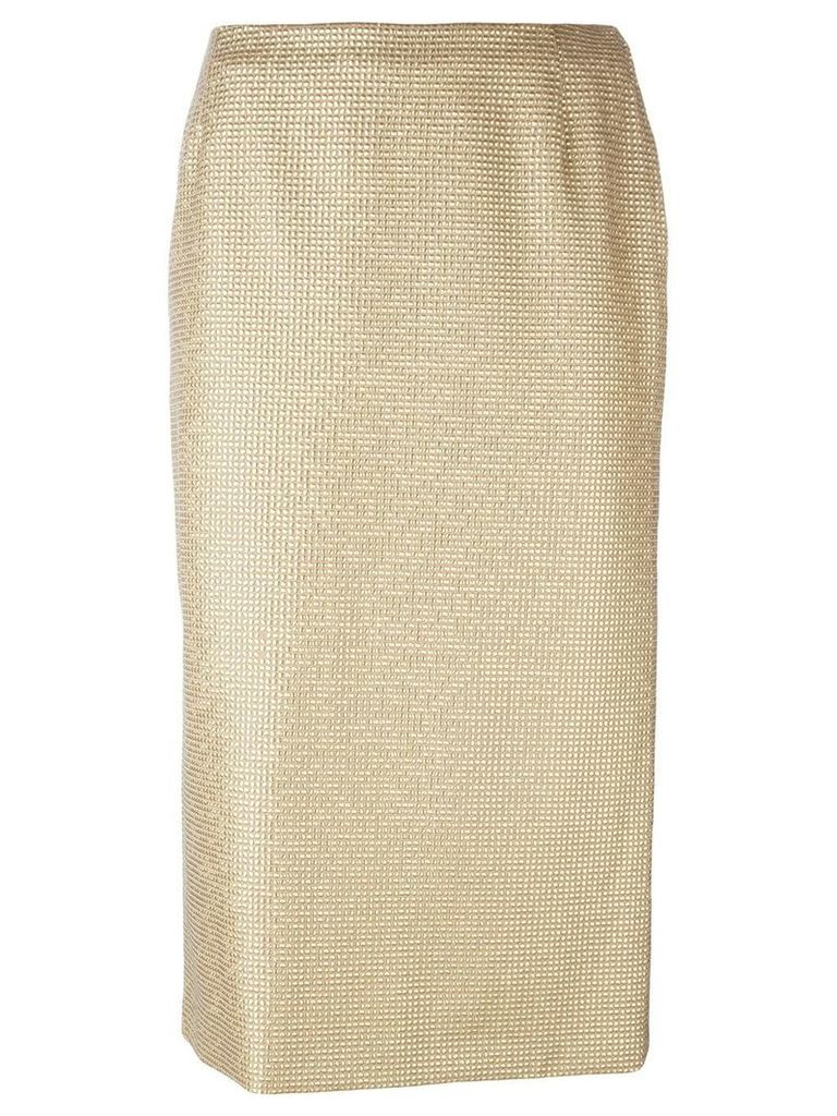 Versace Vintage embellished pencil skirt - Metallic