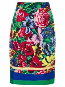 VERSUS PRE-OWNED floral print skirt - Multicolour