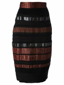 Gianfranco Ferré Pre-Owned paneled pencil skirt - Black