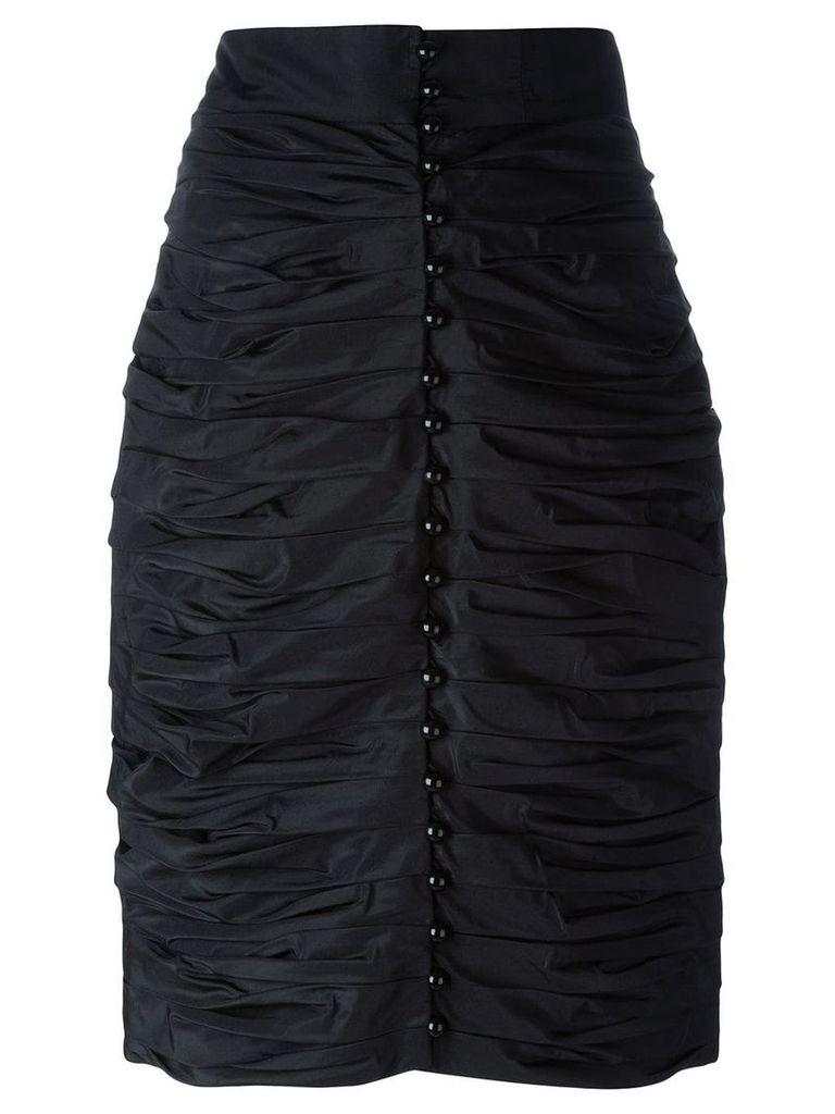 Lanvin Vintage ruched pencil skirt - Black