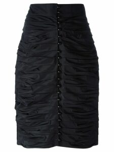 LANVIN PRE-OWNED ruched pencil skirt - Black