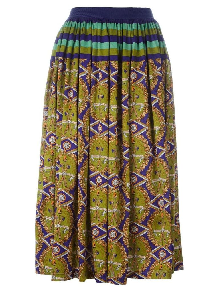 Jean Paul Gaultier Vintage 'Liberte Equalite' skirt - Multicolour