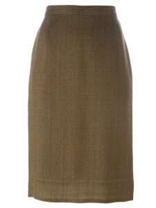 Prada Pre-Owned classic pencil skirt - Brown
